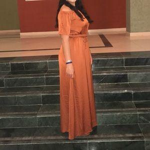 Bar iii Maxi dress Rust orange